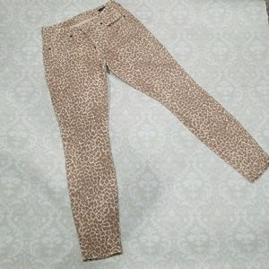 Leopard print Lucky Brand skinny jeans